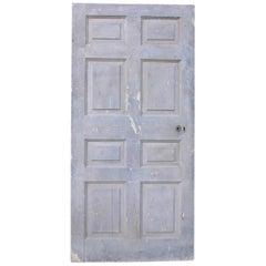 English Georgian Period Painted Interior Pine Door