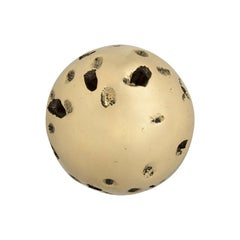 Pullcast Meteor Door Knob in Polished Brass
