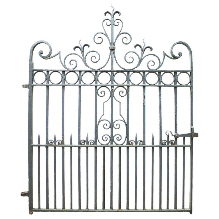 Wrought Iron Pedestrian / Garden Gate, circa 1900 For Sale