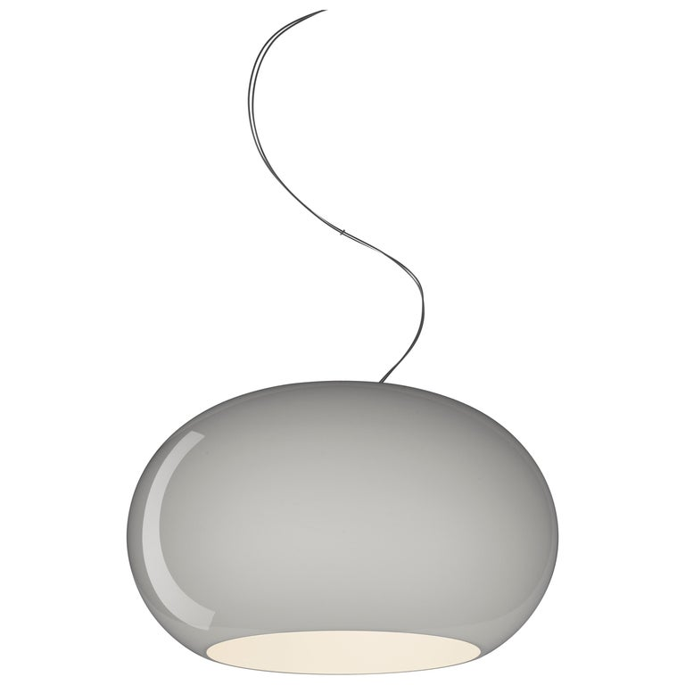 Foscarini Buds 2 LED Suspension Lamp in Grey by Rodolfo Dordoni For Sale