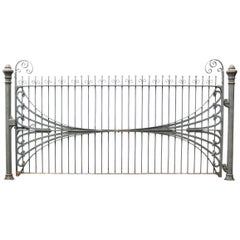 Antique Wrought Iron Estate Gate