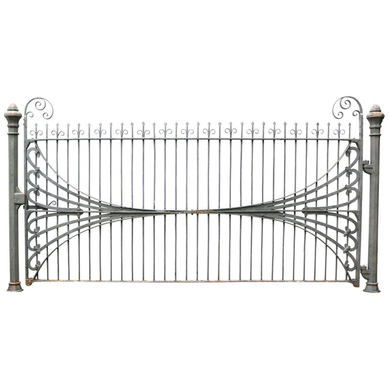 Antique Wrought Iron Estate Gate For Sale