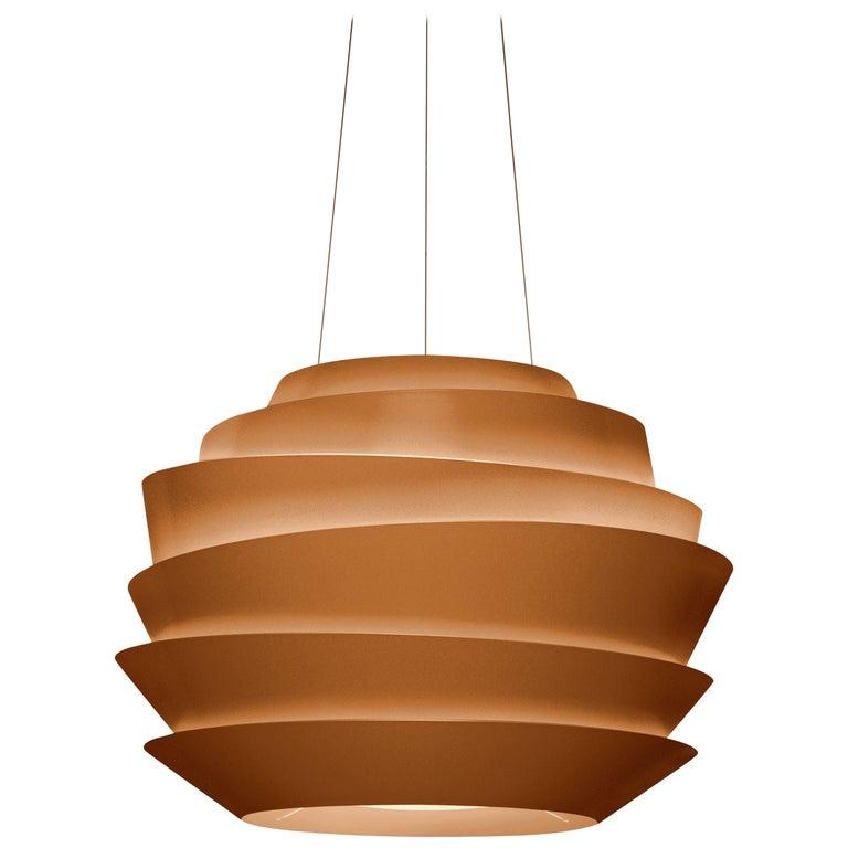 Foscarini Le Soleil Suspension Lamp in Copper by Vicente Garcia Jimenez For Sale