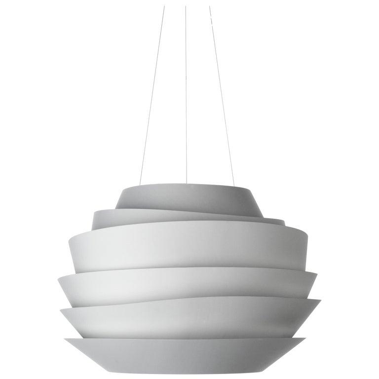 Foscarini Le Soleil Suspension Lamp in White by Vicente Garcia Jimenez For Sale