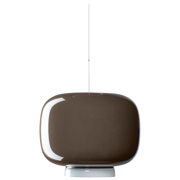 Foscarini Chouchin 3 LED Suspension Lamp in Grey by Lonna Vautrin For Sale
