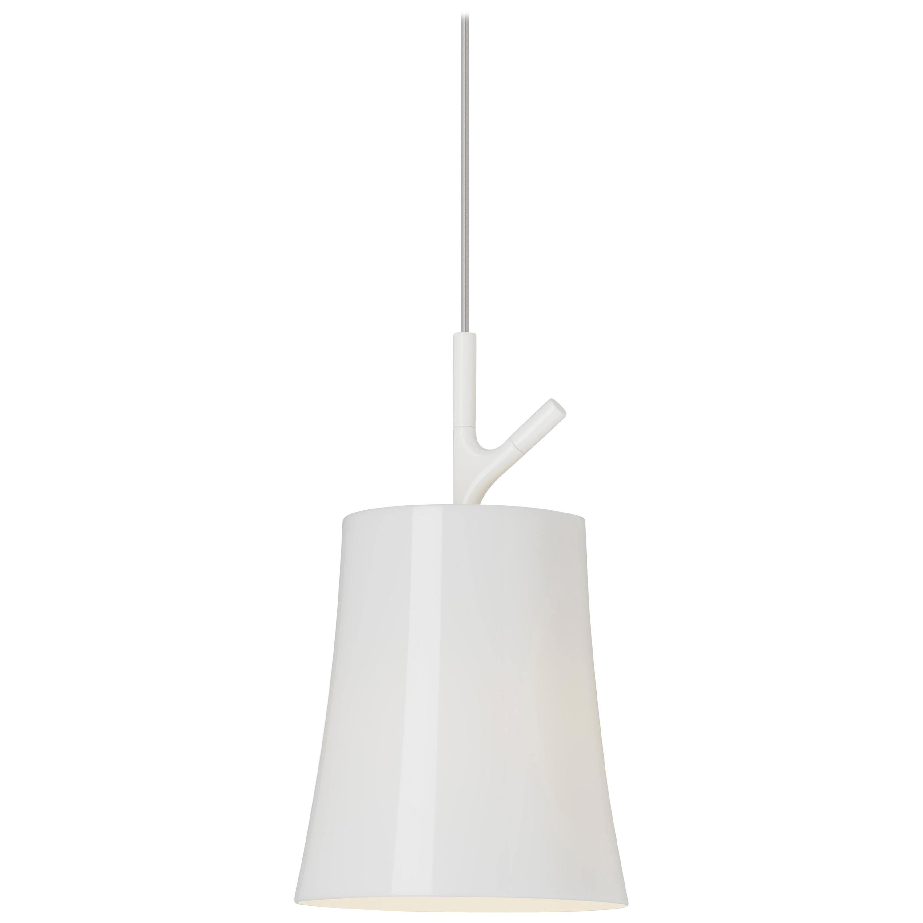 Foscarini Birdie Large Suspension Lamp in White by Ludovica and Roberto Palomba