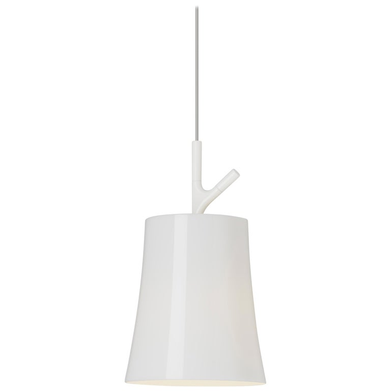 Foscarini Birdie Large Suspension Lamp in White by Ludovica and Roberto Palomba For Sale