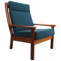 Danish Teak High Back Lounge Chair by Juul Kristensen for Glostrup, 1960s