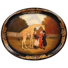 Papier-Mâché Tray Depicting 'The Nubian Giraffe'