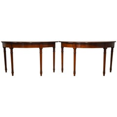 Pair of 19th Century George III Mahogany Console Tables