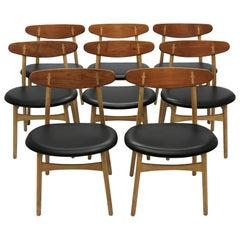 Hans J. Wegner Dining Chairs Model CH30