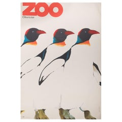 Zoo Chorzow Original Polish Poster, Marek Mosinski, 1968
