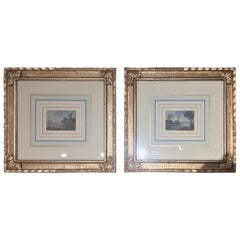 Pair of 19th Century Italian Paintings 1800 Landscape