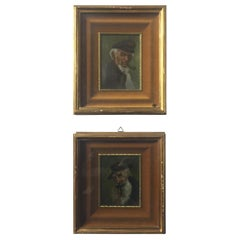 Pair of 19th Century Small English Paintings Sailor Men