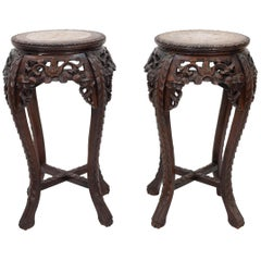 Two Antique Chinese Plant Stands