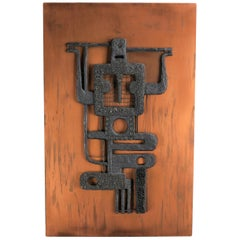 Mid-Century Modern Abstract and Figurative Artwork Sculpture, 1960s