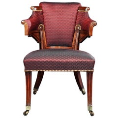 George III Regency Mahogany Armchair