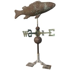 Vintage Fish Weathervane in Copper and Steel