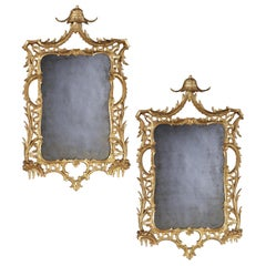 Pair of George III Carved and Gilded Mirrors