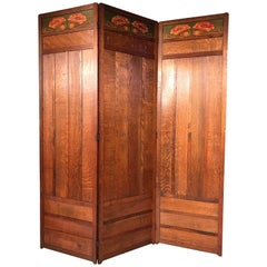 Antique Jugend 3-Piece Screen in Oak