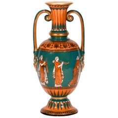 19th Century Neoclassical Samuel Alcock & Co. Porcelain Vase