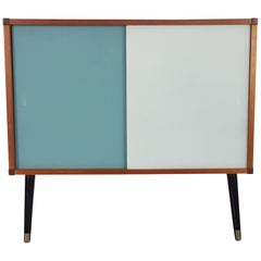 Vintage Midcentury Danish Style Teak and Glass Cabinet