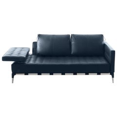 Cassina Loveseat Sofa Daybed Privé Divano Philippe Starck 241 Blue Gray 2008