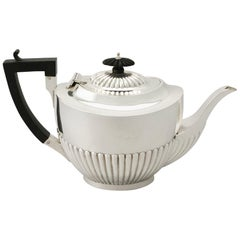 Antique Edwardian Queen Anne Style Sterling Silver Teapot