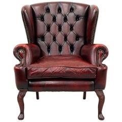 Chesterfield Wing Chair Armchair Club Chair Baroque Antique