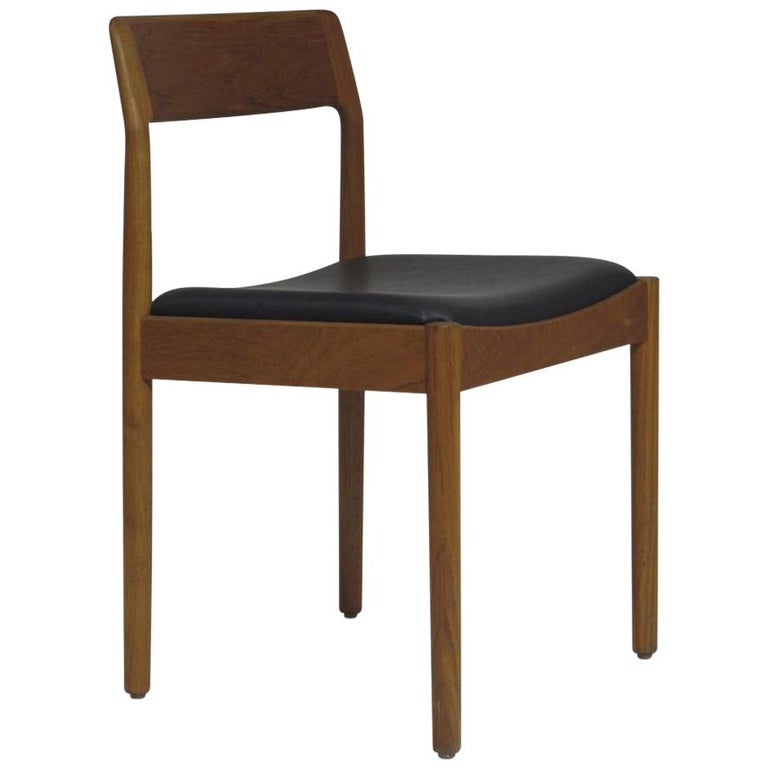 Danish Teak Dining Chairs, Set of 4 For Sale