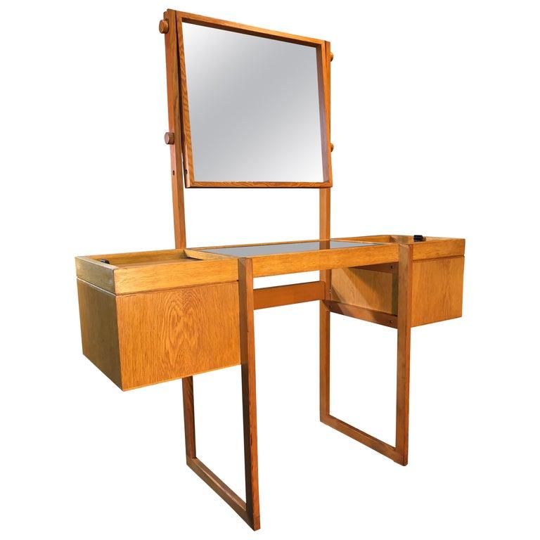 Danish Mid-Century Modernist Vanity Unit, Oak For Sale