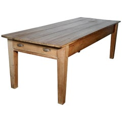 Large Early 19th Farmhouse Pine Table