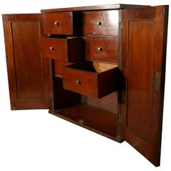 Victorian Mahogany Collectors Cabinet, with Interior Drawers