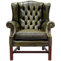 Chesterfield Wing Chair Armchair Club Chair Baroque Antique