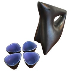"André Aleth Masson Pitcher ""Cocotte"" and 4 Cups, circa 1956"