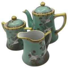 Hand Painted Tea Set, Made in Japan, 1950s