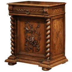 19th Century French Napoleon III Carved Oak Jelly Cabinet Confiturier
