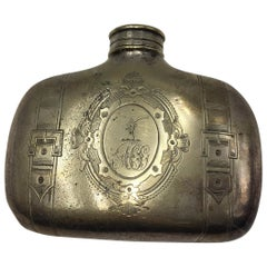 Ancient flask by PA & SS Philip Ashberry & Son's Sheffield English Silver Plate