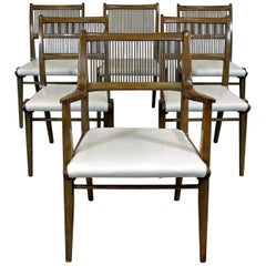 Set of 6 Mid-Century Modern John Van Koert Drexel Profile Dining Chairs