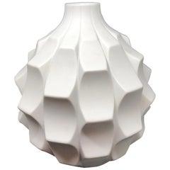 Midcentury Bisquit Artichoke Vase by Heinrich Fuchs for Hutschenreuther, 1960s