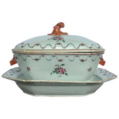 18th Century, Chinese Export Tureen, Cover and Matching Stand