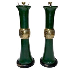 Pair of Large Oriental Style Table Lamps