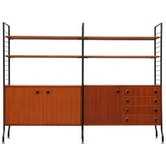 Handsome Midcentury Teak Wall Unit
