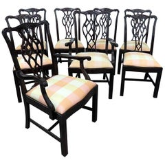 Set of 8 Kindel Chippendale Style Dining Chairs