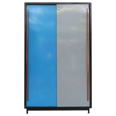 Willy Van Der Meeren Tall Metal Wardrobe for Tubax