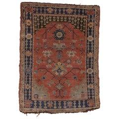 Antique Small Oushak Rug, circa 1910s