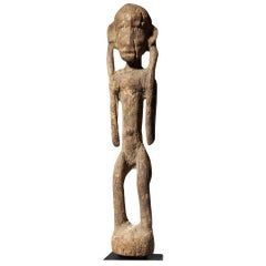 Dogon Wooden Figure with Crusted Patina, Tribal Art