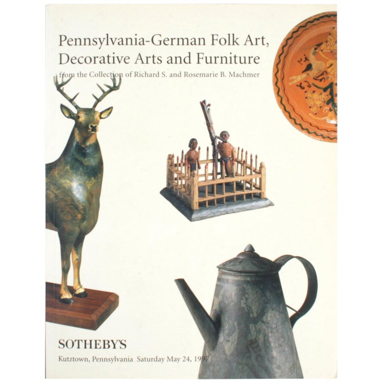 Sotheby's, Pennsylvania-German Folk Art, Decorative Arts and Furniture For Sale