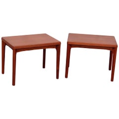 Pair of Teak Mid-Century Modern End Tables
