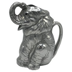 Arthur Court Cast-Aluminum Elephant Pitcher